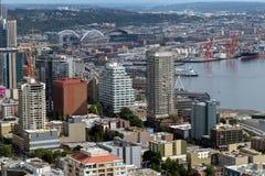 Seattle moderne d'en haut Photos libres de droits