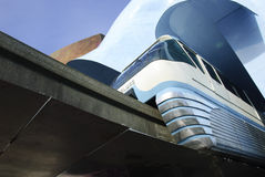 Seattle Monorail @ City Center Royalty Free Stock Photos