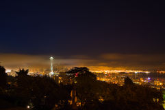 Seattle in Morning Fog Royalty Free Stock Images