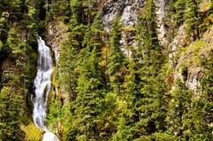 Seattle mount rainier side. With waterfall Stock Photo