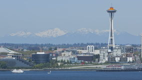 Seattle Mountains with Space Needle Stock Images