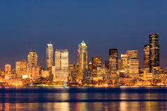 Seattle na noite Imagem de Stock