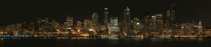 Seattle na noite Foto de Stock