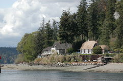 Seattle na plaży Fotografia Stock