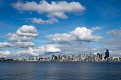 Seattle nabrzeże i przestrzeni igła Zdjęcie Stock