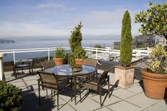 Seattle nabrzeże od widoku pokładu obraz stock