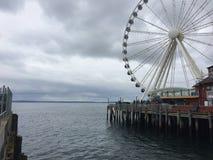 Seattle nabrzeże w wiośnie Zdjęcia Stock