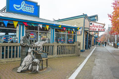 Seattle nabrzeża Ivars owoce morza restauracja Obrazy Royalty Free