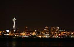 Seattle nachts stockfotografie