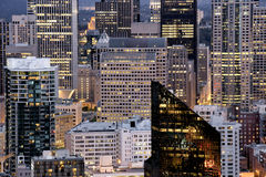 Seattle at night royalty free stock image