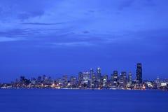 Seattle at night Stock Image
