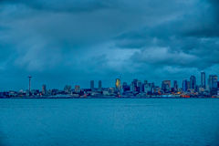 Seattle Night HDR Stock Photography