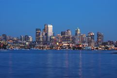 Seattle Night View Stock Image