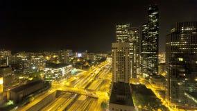 Seattle Nightime mellanstatlig trafik stock video