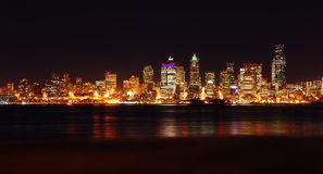 Seattle Nightscape Stock Photography