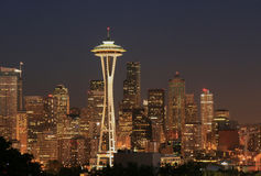Seattle nocturne Stock Photo