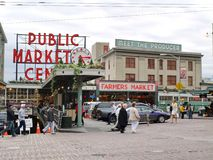 Public Market in Seattle on October 7, 201 Royalty Free Stock Photo