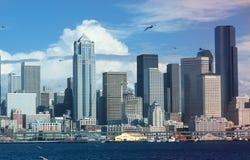 Seattle, orizzonte di WA fotografia stock