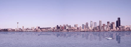 Seattle-Panorama Lizenzfreie Stockbilder