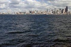 Seattle Panorama. Panoramic view of Seattle, Washington from Alki Beach. (full frame Royalty Free Stock Image