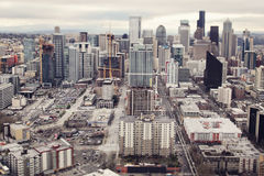 Seattle panorama. Panorama of Seattle downtown from above Royalty Free Stock Images