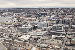 Seattle panorama. Panorama of Seattle downtown from above Stock Photography