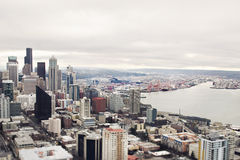 Seattle panorama. Panorama of Seattle downtown from above Stock Images