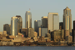 Seattle panorama. Panorama of Seattle downtown from Elliot Bay Royalty Free Stock Images
