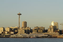 Seattle panorama. Panorama of Seattle downtown from Elliot Bay Royalty Free Stock Photos