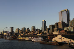 Seattle panorama. Panorama of Seattle downtown from Elliot Bay Stock Image