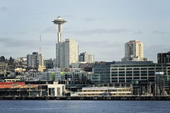 Seattle panorama. Panorama of Seattle downtown from Elliot Bay Royalty Free Stock Image