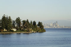 Seattle panorama. Panorama of Seattle downtown from Elliot Bay Stock Photography