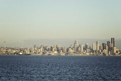 Seattle panorama. Panorama of Seattle downtown from Elliot Bay Royalty Free Stock Photo