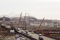 Seattle panorama. Panorama of Seattle industrial area Royalty Free Stock Image