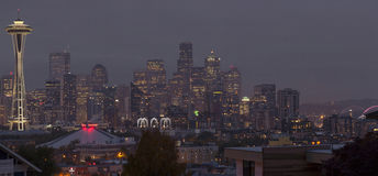 Seattle panorama skyline at night Royalty Free Stock Photography
