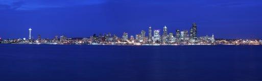 Seattle panoramique images libres de droits