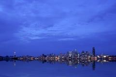 Seattle panoramique la nuit photographie stock