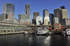 Seattle, Pier 55 Stockfotos
