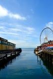 Seattle Pier. Seattle Big Wheel on a pier Stock Image