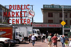 Seattle - Pike Place Public Market Stock Photos