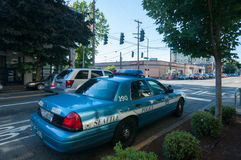 Seattle police car Royalty Free Stock Image