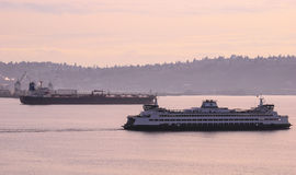 Seattle Port traffic royalty free stock photos