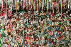 Seattle Post Alley Gum Wall and Ledge Royalty Free Stock Photography