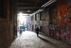 Seattle post alley Stock Images