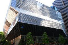Seattle Public Library. The Seattle Public Library Building Royalty Free Stock Photos
