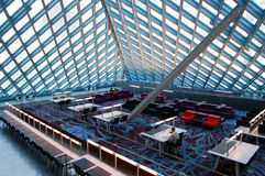 Seattle Public Library. View of the reading room in the Seattle Public Library Royalty Free Stock Image