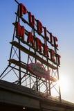 Seattle Public Market Sign Royalty Free Stock Image