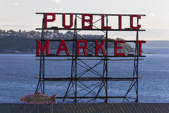 Seattle Public Market Sign Stock Image