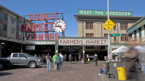 Seattle Public Market Stock Photo
