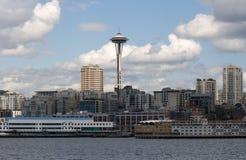 Seattle que vive com a agulha do espaço centrada Fotografia de Stock Royalty Free